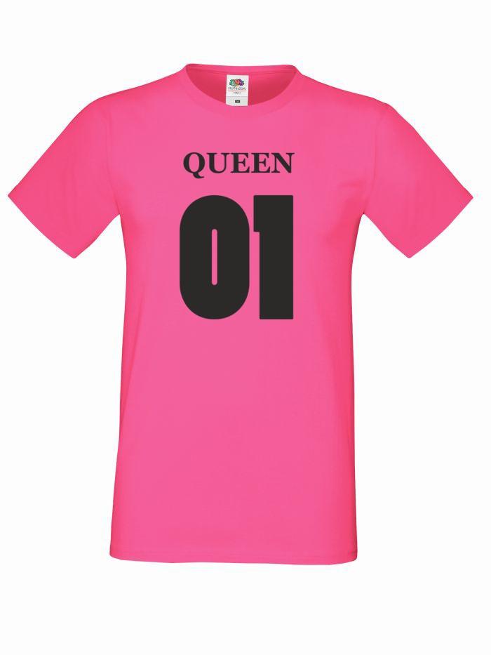 T-shirt oversize QUEEN 01 M różowy