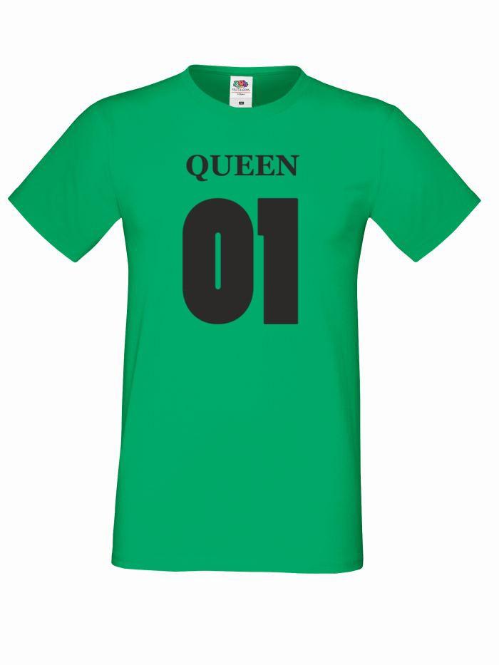 T-shirt oversize QUEEN 01 M zielony