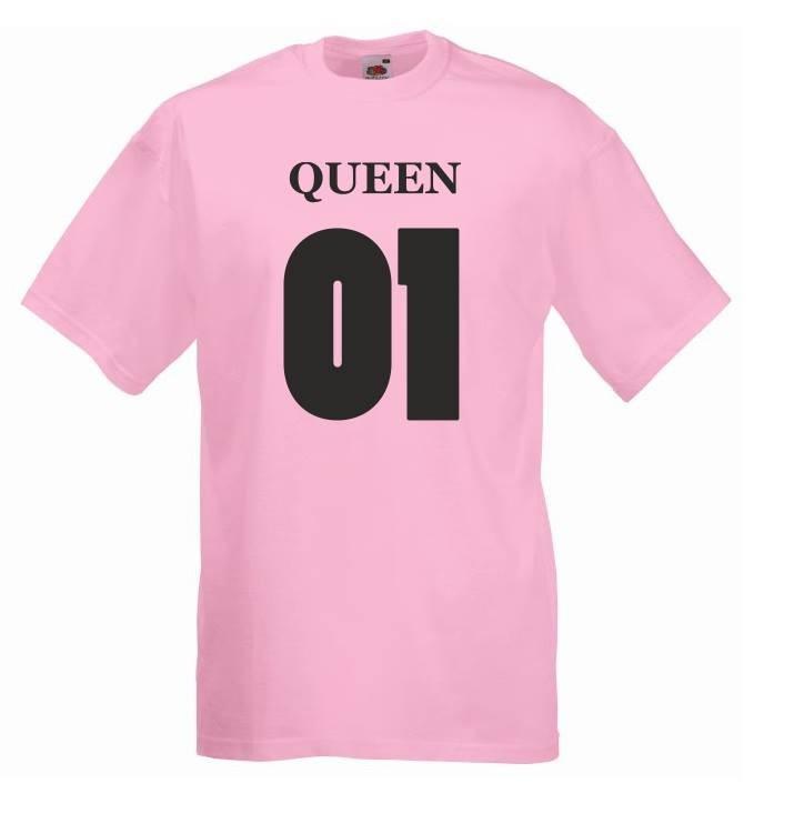 T-shirt oversize QUEEN 01 XL różowy