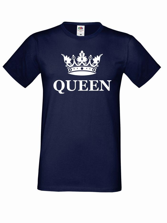 T-shirt oversize QUEEN KORONA XL granatowy