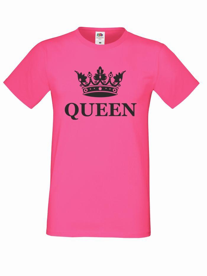 T-shirt oversize QUEEN KORONA L różowy