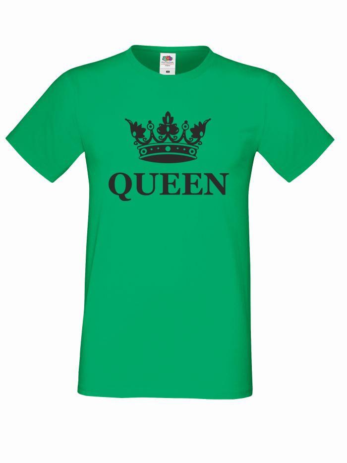 T-shirt oversize QUEEN KORONA M zielony