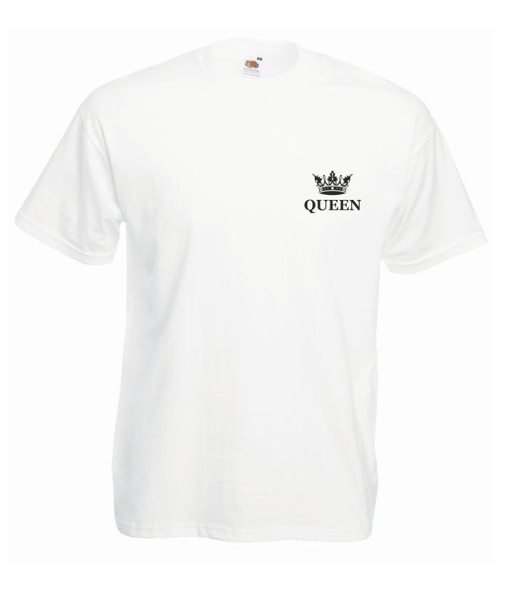 T-shirt oversize QUEEN KORONA MINI S biały