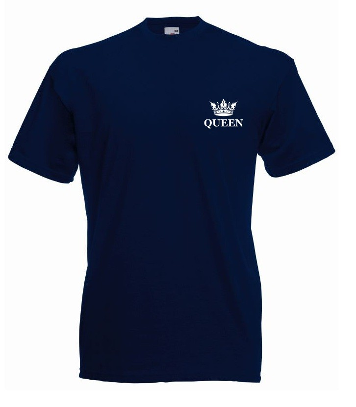 T-shirt oversize QUEEN KORONA MINI M granatowy