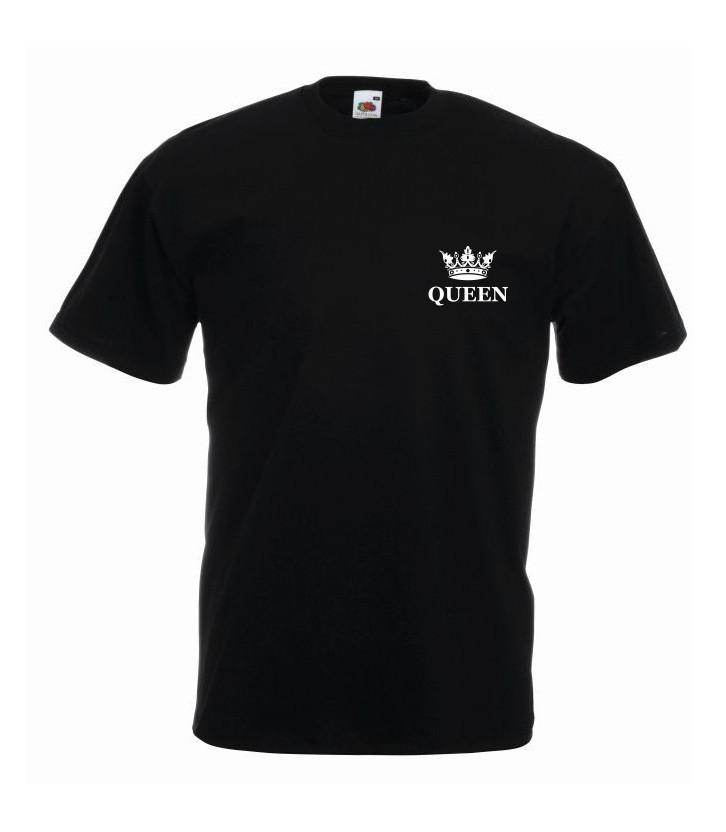 T-shirt oversize QUEEN KORONA MINI L czarny