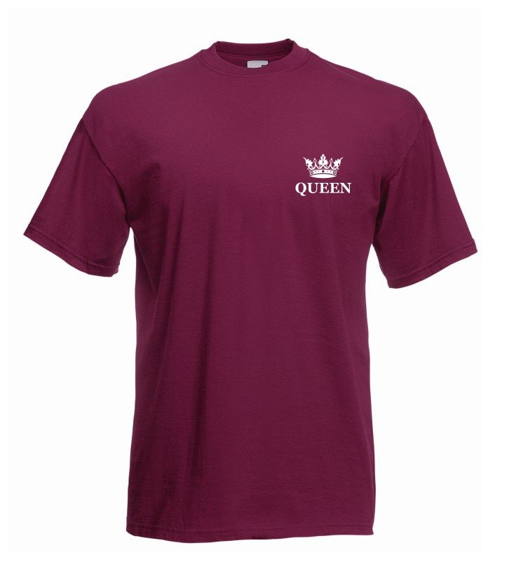T-shirt oversize QUEEN KORONA MINI XL burgund