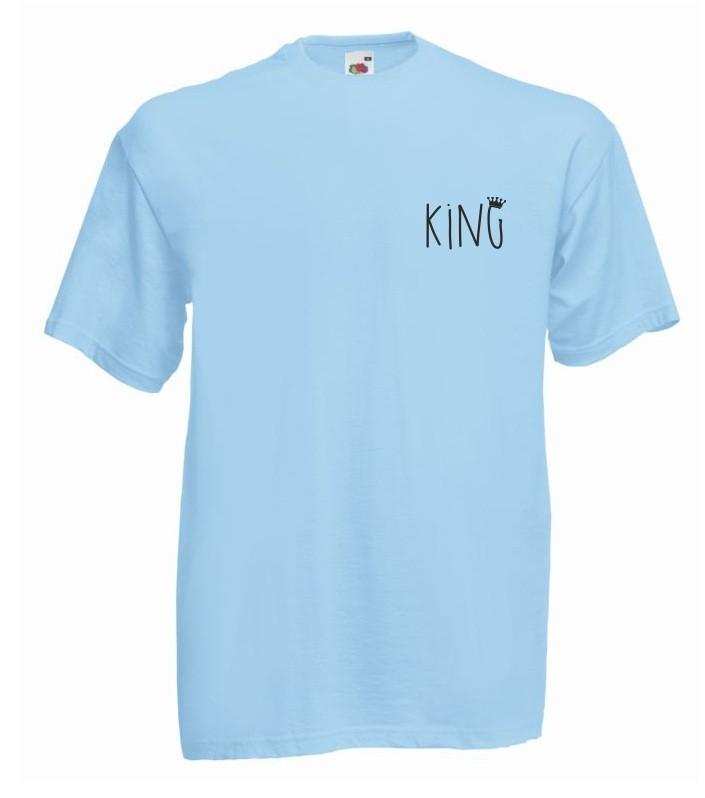 T-shirt oversize KING 2 MINI XL błękitny
