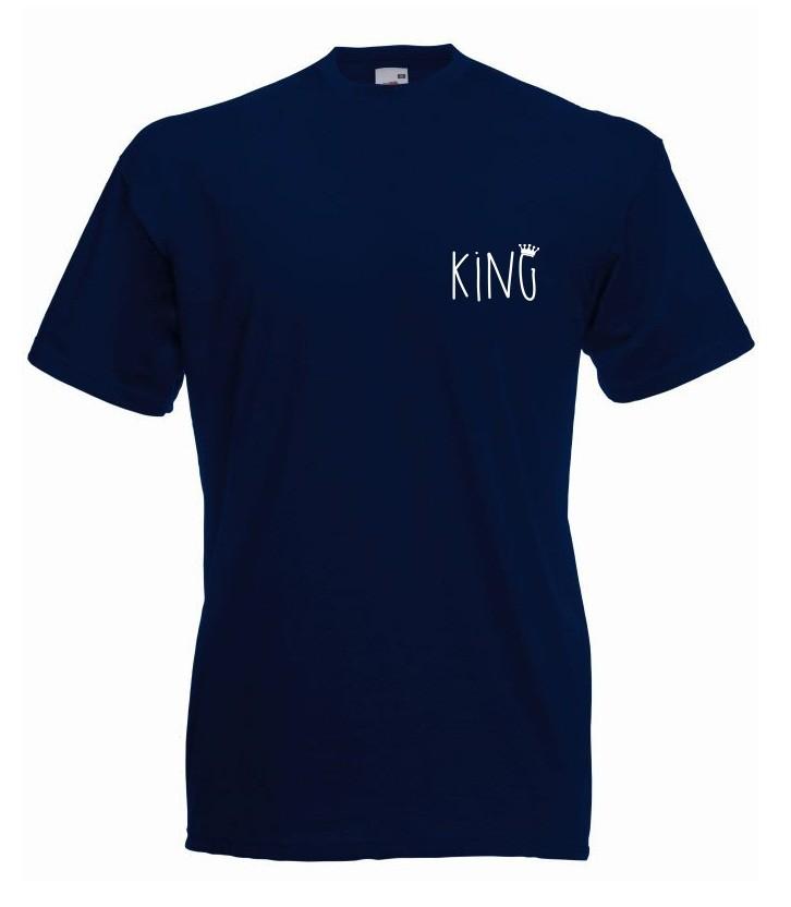 T-shirt oversize KING 2 MINI XL granatowy
