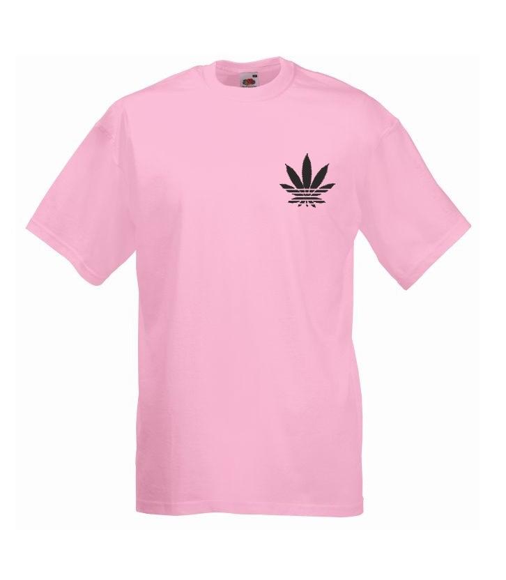 T-shirt oversize ADDICTED MINI S jasny róż