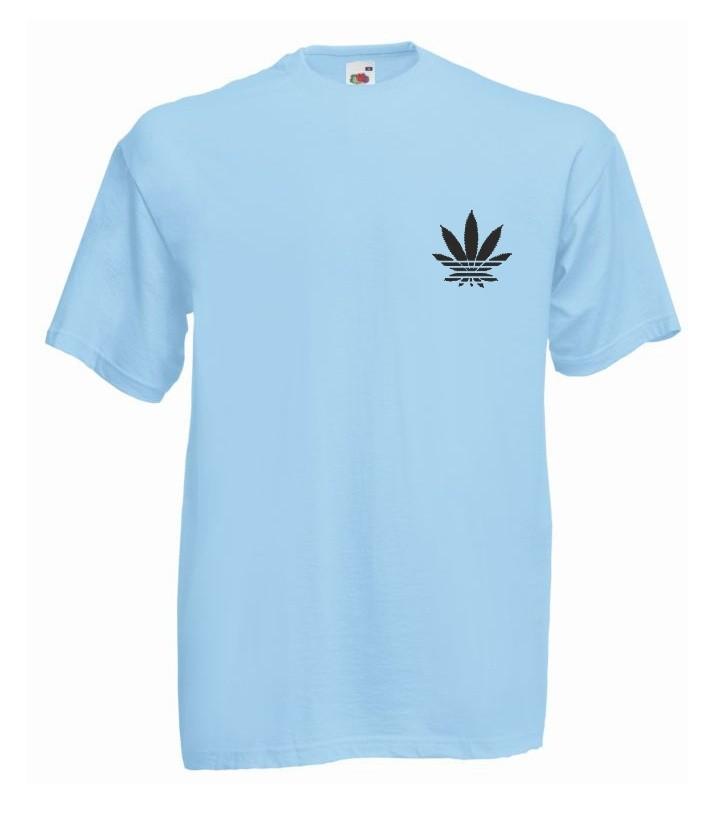 T-shirt oversize ADDICTED MINI M błękitny