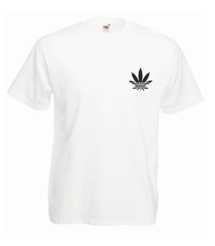 T-shirt oversize ADDICTED MINI L biały