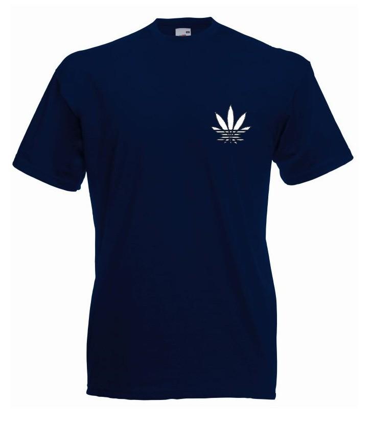 T-shirt oversize ADDICTED MINI M granatowy