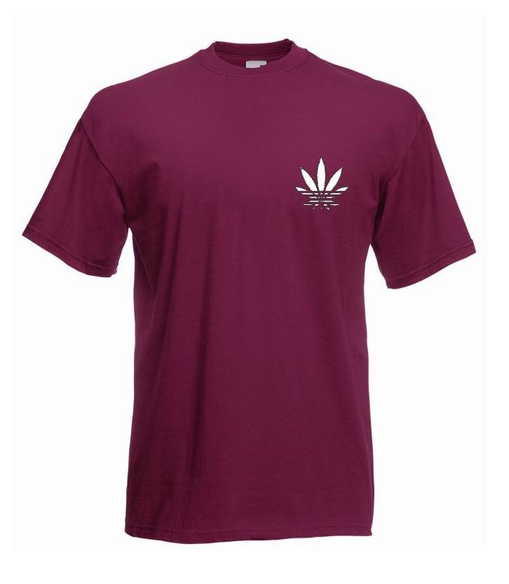 T-shirt oversize ADDICTED MINI XL burgund