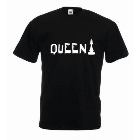 T-shirt oversize QUEEN CHESS
