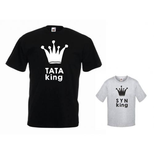 t-shirty dla taty i syna KING
