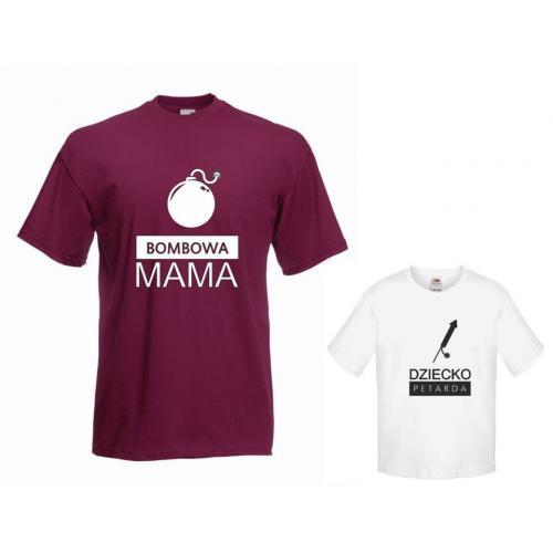 t-shirty dla mamy i córki BOMBOWA, PETARDA
