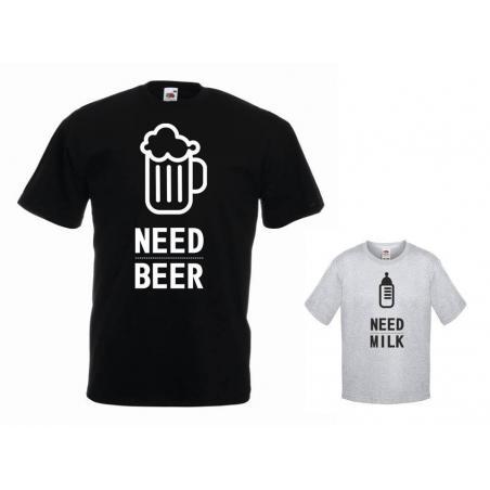 t-shirty dla taty i syna NEED