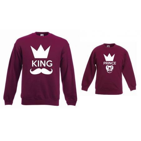 Bluzy dla taty i syna KING, PRINCE
