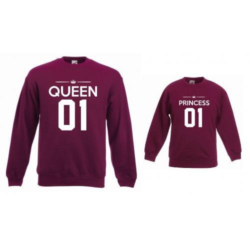 Bluzy dla mamy i córki QUEEN 01, PRINCESS 01
