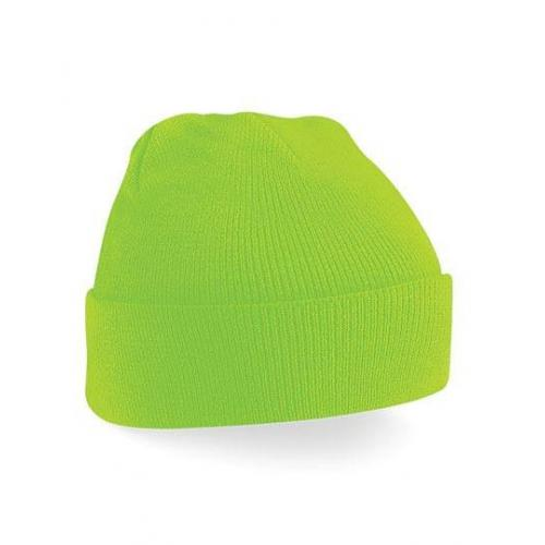 czapka beanie color FLUORESCENT GREEN