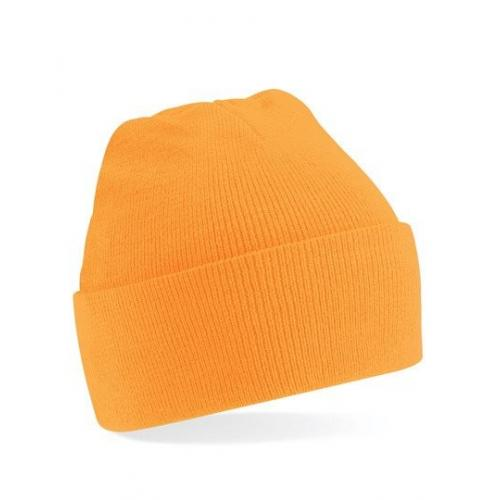 czapka beanie color FLUORESCENT ORANGE