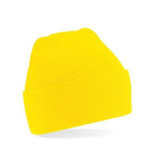 czapka beanie color YELLOW