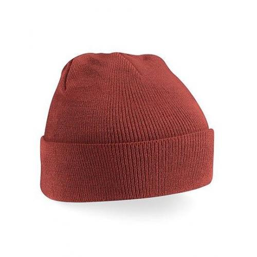 czapka beanie color ORANGE RUST