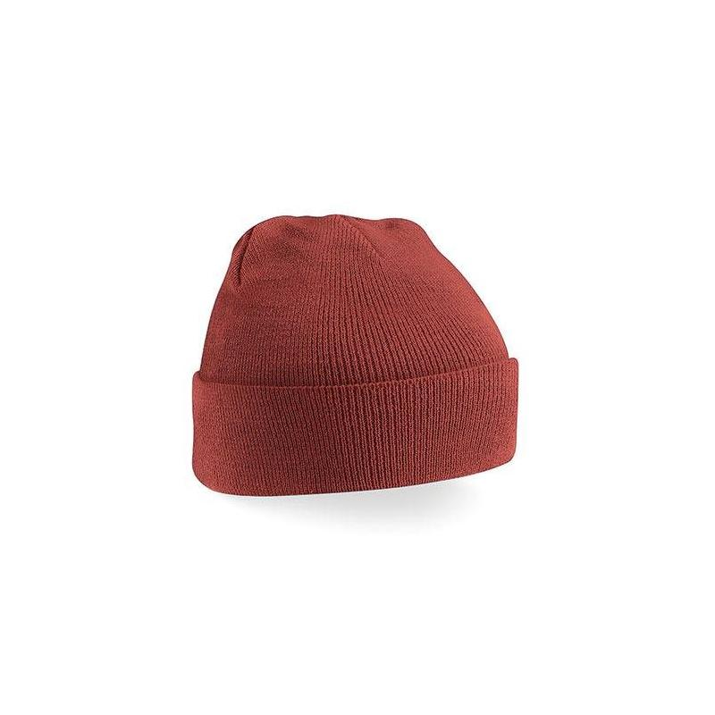 czapka beanie color ORANGE RUST