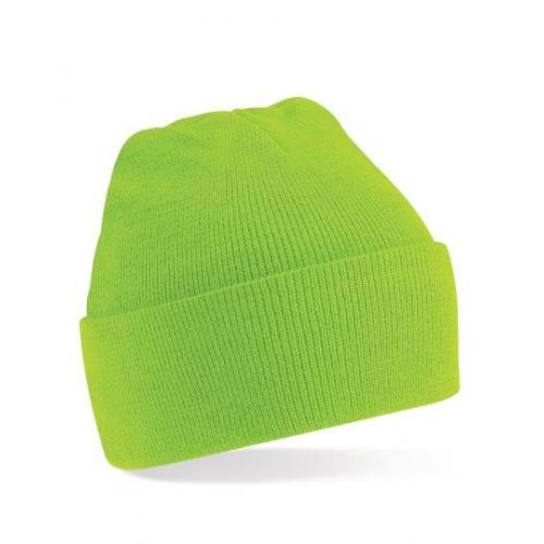 czapka beanie color LIME GREEN