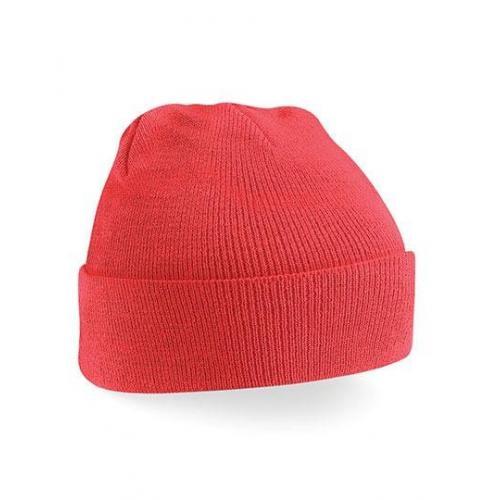 czapka beanie color CORAL
