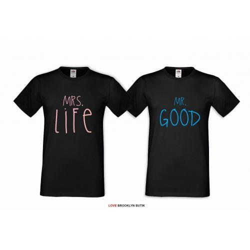 T-shirt DLA PAR 2 SZT LIFE & GOOD COLOR