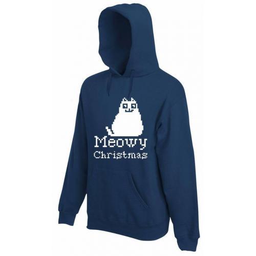 bluza z kapturem MEOWY CHRISTMAS