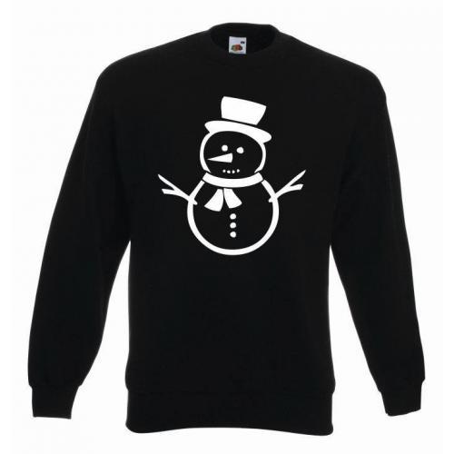 świąteczna bluza bałwan czarny-złoty