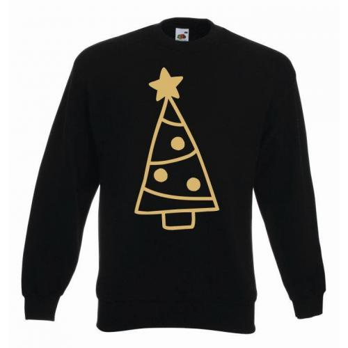 bluza oversize CHRISTMAS TREES COLOR