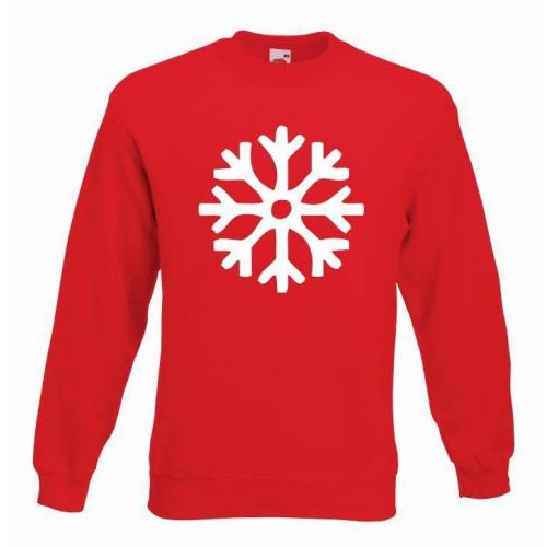 bluza oversize SNOWFLAKES COLOR