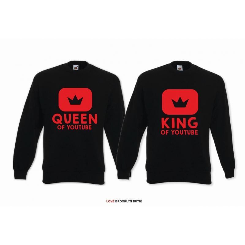 Bluza z kapturem DLA PAR 2 SZT QUEEN 01 & KING 01 GOLD
