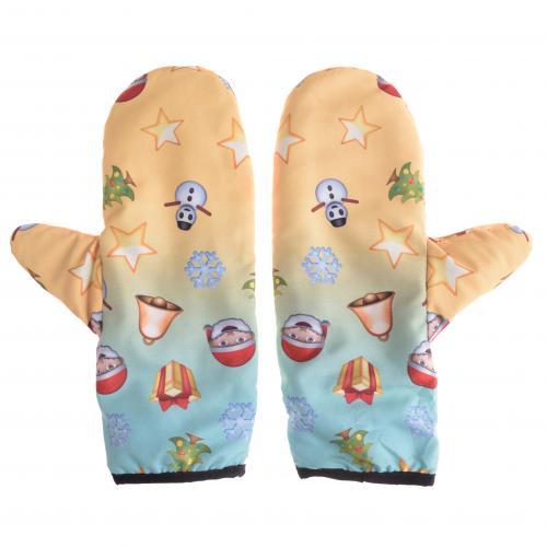 rękawiczki duże WINTER xmas emoji