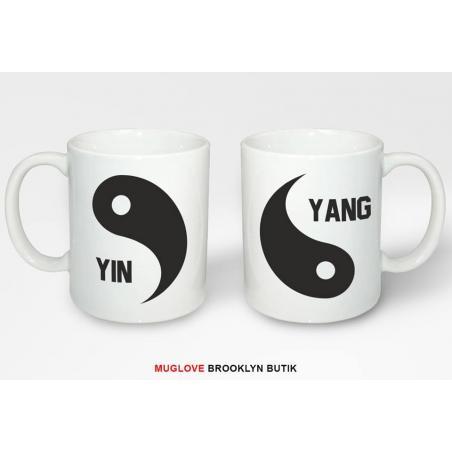 Kubek z nadrukiem 2 sztuki  yin &  yang dla niej dla niego