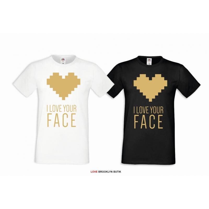 T-shirt DLA PAR 2 SZT BONNIE & CLYDE GOLD napis z przodu