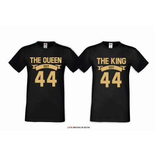 T-shirt DLA PAR 2 SZT BONNIE & CLYDE GOLD napis z tyłu