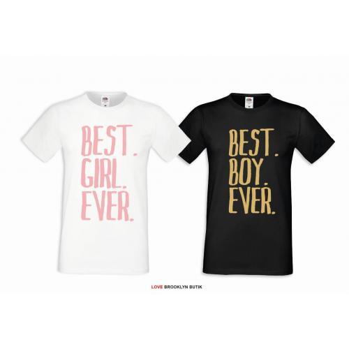 T-shirt DLA PAR 2 SZT QUEEN PINK & KING GOLD