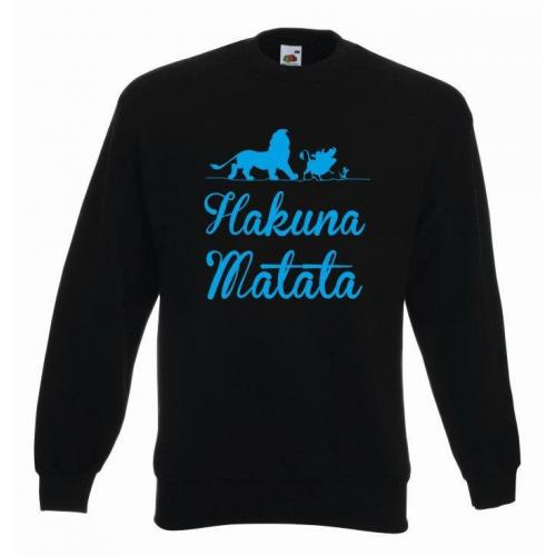 bluza oversize HAKUNA MATATA ANIMAL COLOR