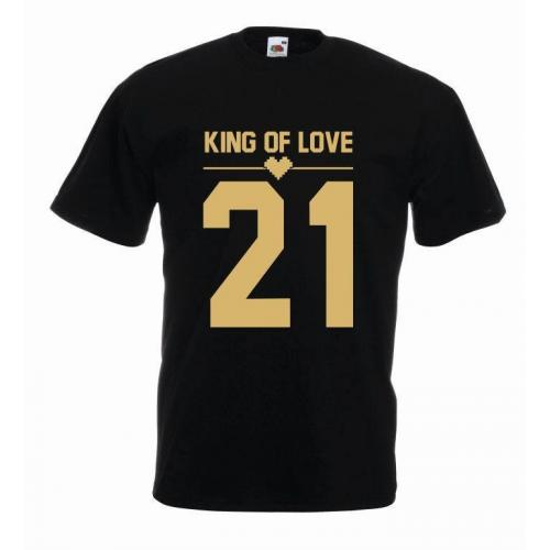 T-shirt oversize KING OF LOVE COLOR