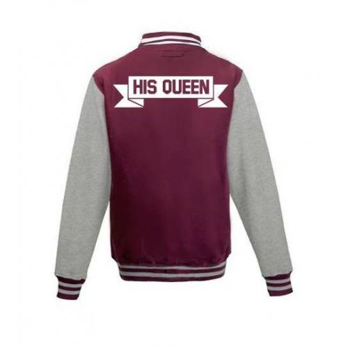 Bluza baseball HIS QUEEN