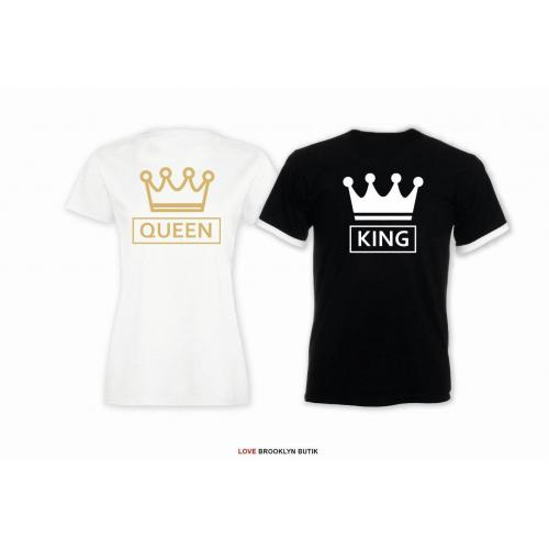 T-shirt dla par Queen & King CC lady/oversize 2 szt
