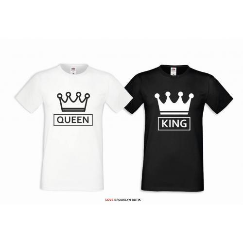 T-shirt dla par Queen & King CC 2 szt