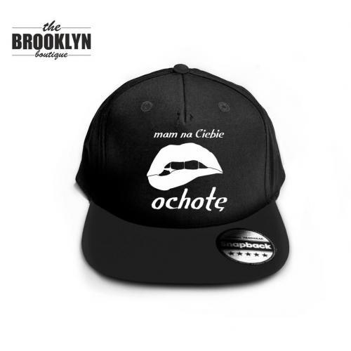 czapka snapback cap /czarno-biała/