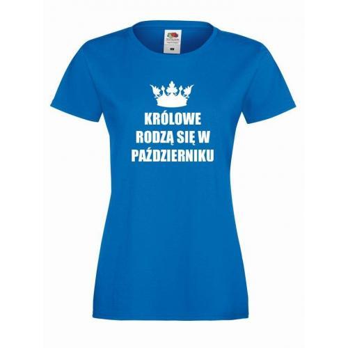 T-shirt lady KRÓLOWE PAŹDZIERNIK