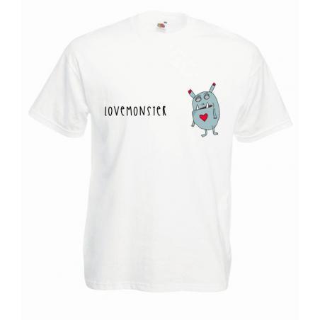 T-shirt oversize DTG LOVE MONSTER