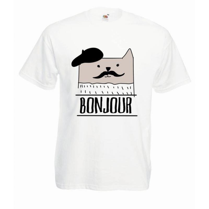 T-shirt oversize DTG BONJOUR